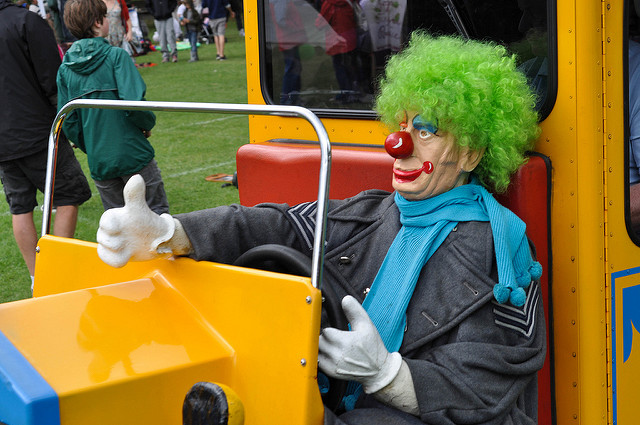 You don't want to be on the road with a bunch of clowns who can't drive.