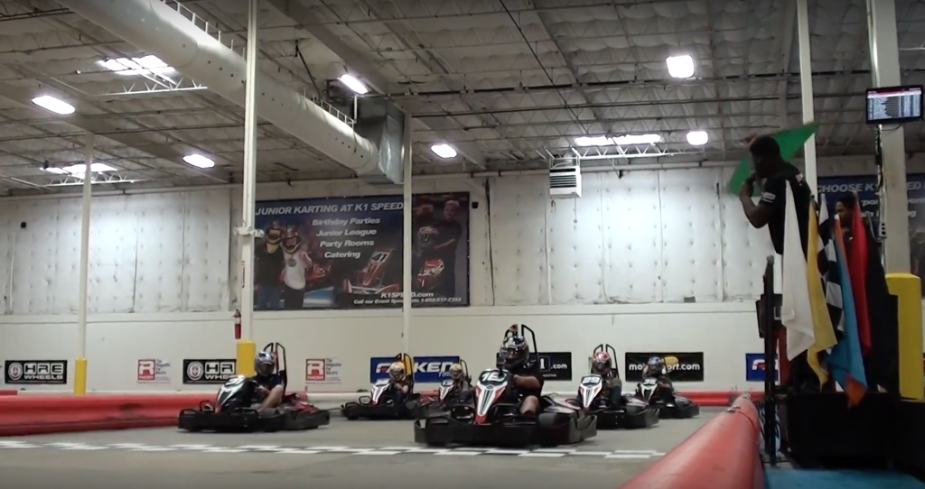 Aceable Drivers Ed went go-kart racing at K1 Speed in Austin, Texas.