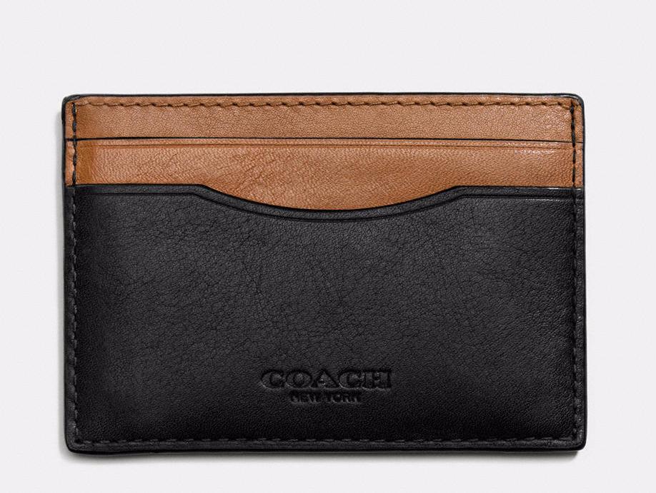 Coach Card Case in Sport Calf Leather ($49, Coach.com)