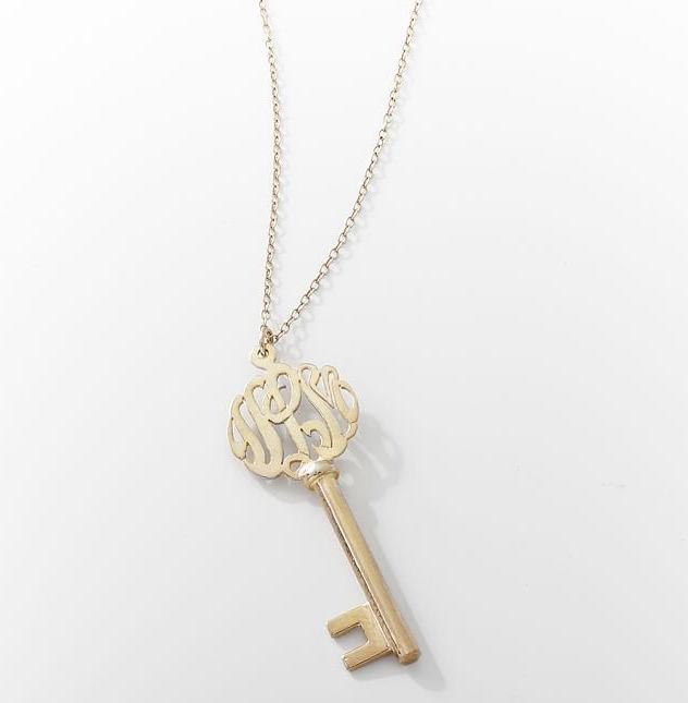 Monogram Key Pendant ($199, PBTeen.com)