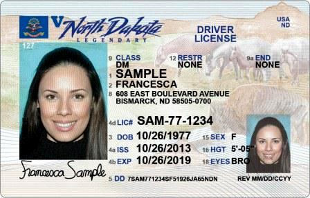 north dakota driver license