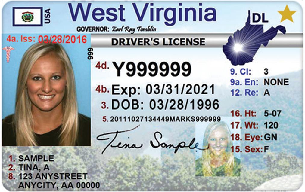 west virginia driver license