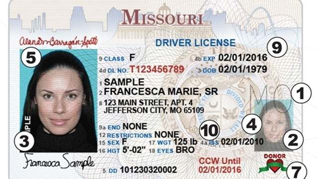 missouri driver license