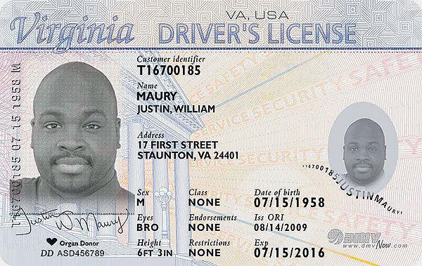 virginia driver license