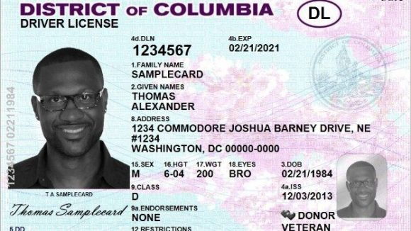 washington dc driver license