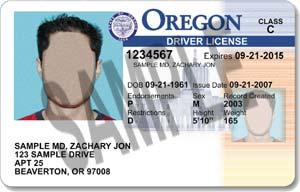oregon driver license