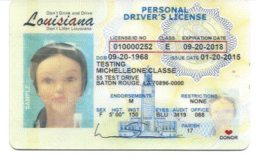 louisiana driver license