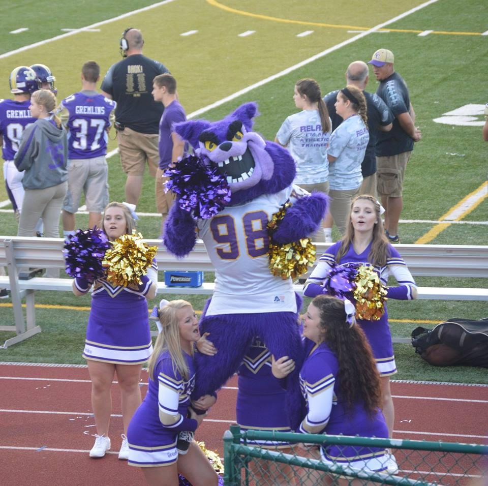 Pennsylvania mascots  cheerleaders
