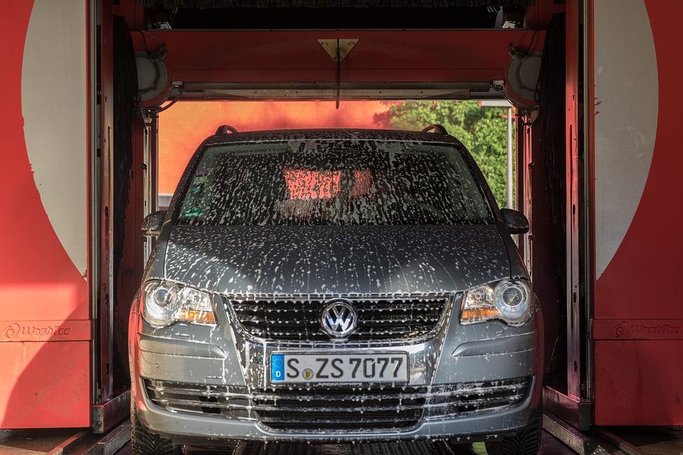 Car going through wash