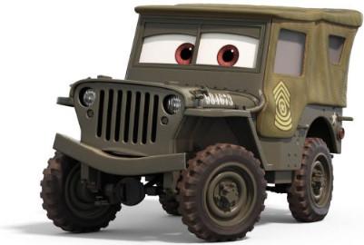 sarge pixar cars