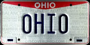 Ohio front license plate