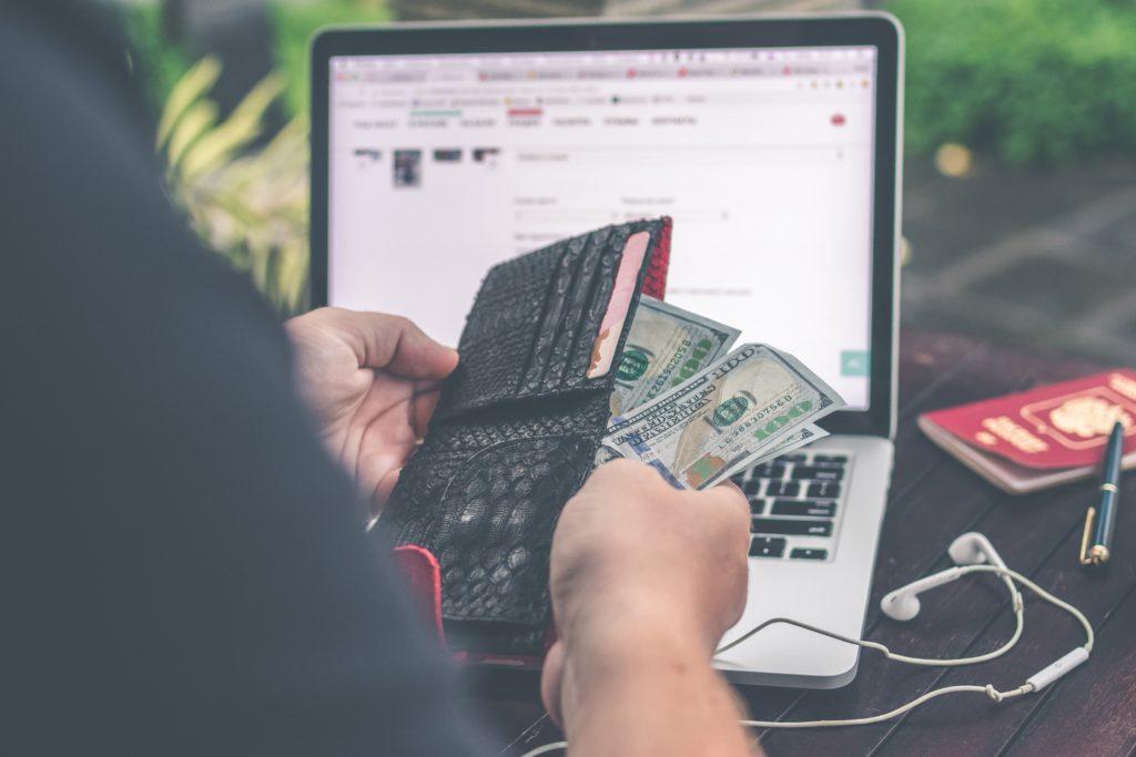 Looking at wallet