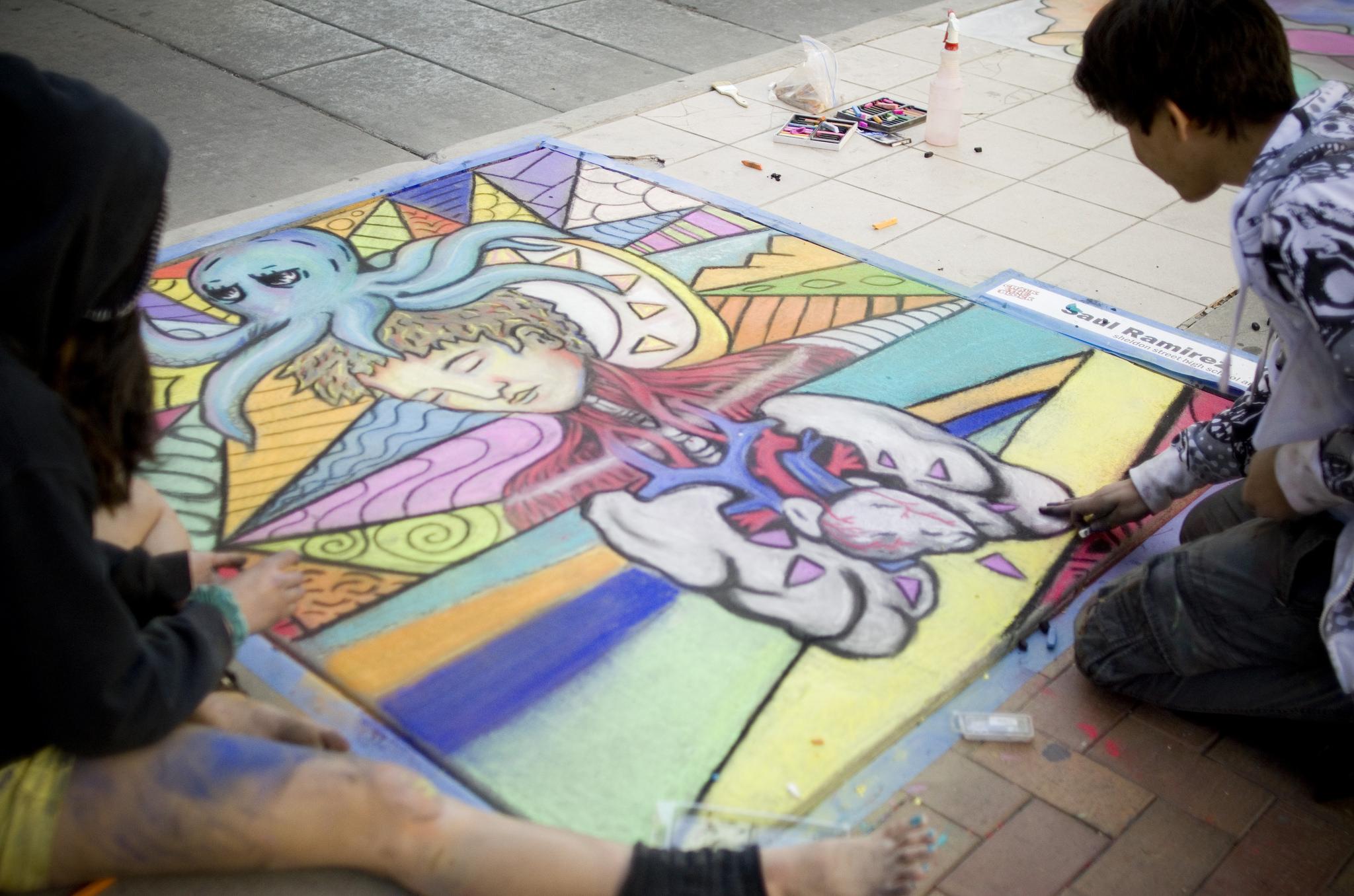 chalk the block